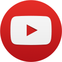 YouTube social circle red 128px